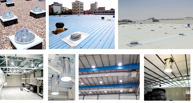 tubular skylight for Light Steel Frame Structures use for warehouse/Steel workshop/hangar/garage/chicken shed, container