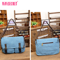Retro best messenger for college canvas cotton blue men's travel bags messenger bags