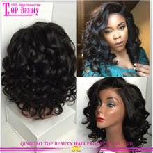 2017 Bob style glueless short lace wig brazilian human hair lace front wigs overnight delivery side part lace front wigs