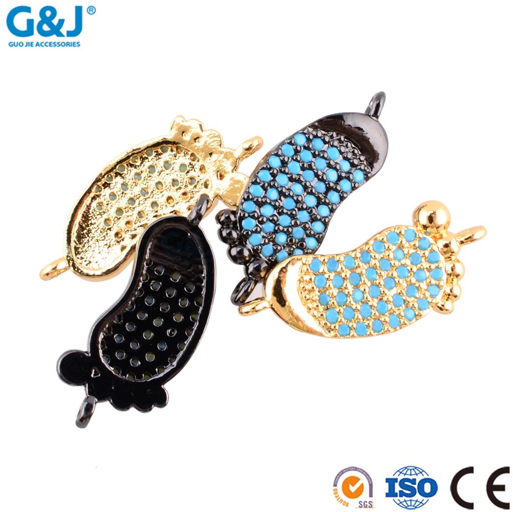 Guojie brand wholesale fashion pendant step shape diamond design charm pendant