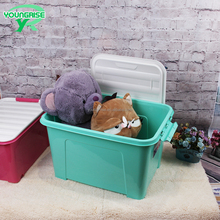Large Flat Plastic Storage moving Boxes,custom garden Plastic Storage Container with wheels