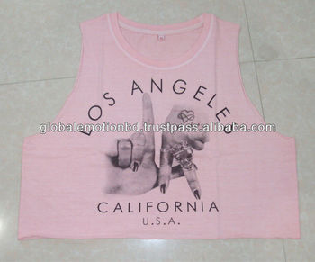 pigment dyed t-shirts. fashionable blouse type t-shirts with photo print, ladies extra short tops.