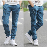 Factory Sale Fashion Man Cargo Pants Harem Pants With Many Pockets
