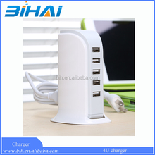 European plug high quality sailing boat usb wall charger extension 5 port charger