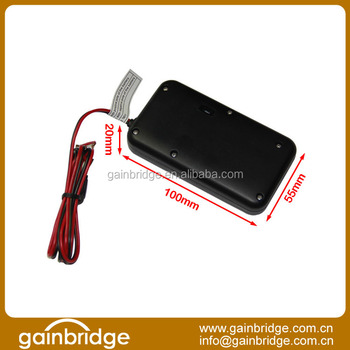 Hardwired GPS vehicle tracking device with low power alarm, Backup battery 1050mAh, external power cut alert by GPRS & SMS