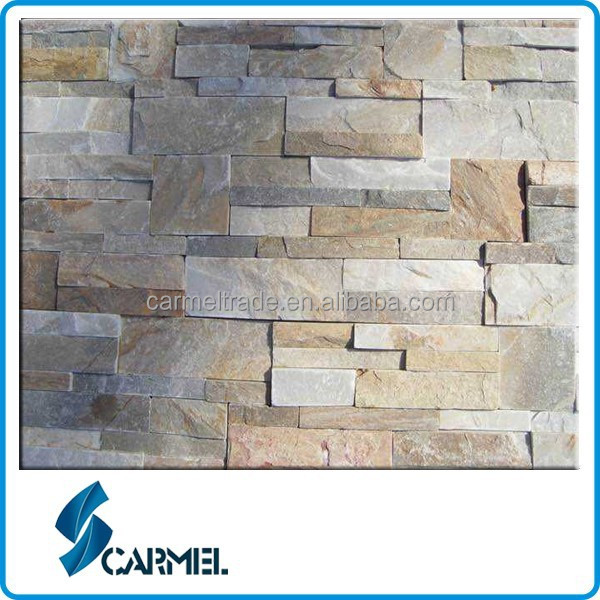 China Natural Yellow Ledge Stone for Exterior&Interior Wall Cladding