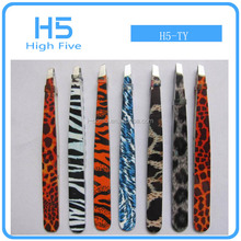 New china H5-TY Pro High quality ESD Stainless steel Eyelash Eyebrow Tweezers For make up eyelash Applicator and Remover