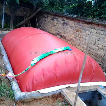 cow farm accessories red-mud membrane small home biogas plant for small size biogas digester