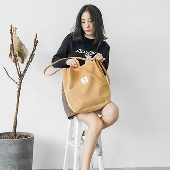 2018 Simple Portable art small fresh student Shopping Canvas Bag Cotton Canvas Tote Bag