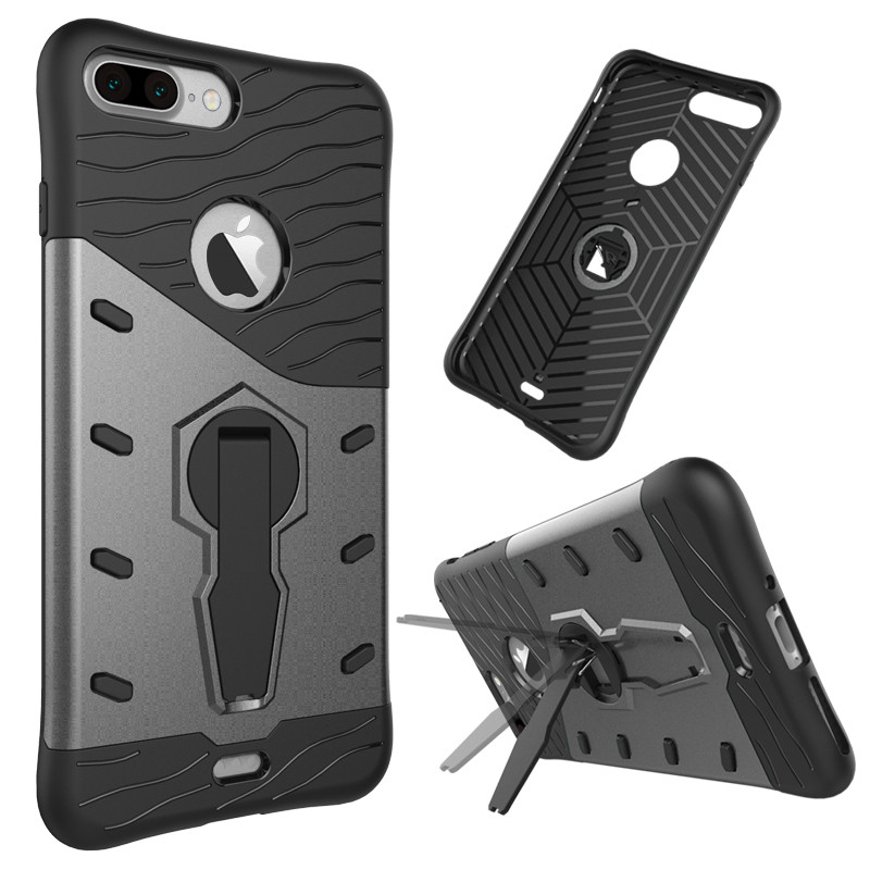 Shockproof kickstand case for iPhone 7 case tpu dual layer back cover for iPhone