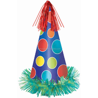 foil fringe paper party hat for kids and adult