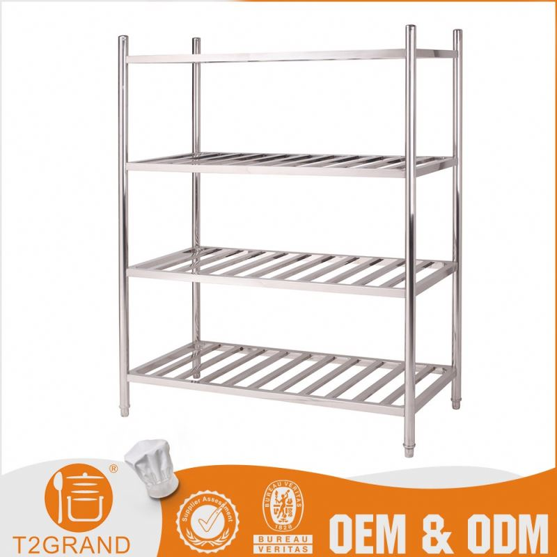 Top Seller Custom Made Stainless Steel Four Layers Wire Rack Chafing Bowl Dish Plate Rack