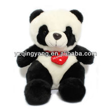 New arrival Valentine day gift stuffed plush panda bear with heart toy for your lover