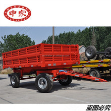 china manufacturers hot sales four wheel 5 tons farm tractor dump tipping trailer