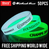 Popular Cheap Glow In Dark Silicone Wristbands | Glow Silicone Wristbands