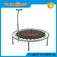 Funjump 2016 hotselling fitness mini trampoline with handle