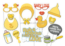 15 Piece PRINTABLE Cute Rubber Ducky Baby Shower Photobooth Party Props Set
