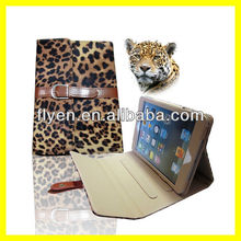 For Apple iPad Mini 1/2 briefcase buckles leopard newes Magnetic PU Leather Folio Stand smart Case Cover