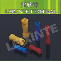 Good quality red color BV1.25 copper butt cable terminal