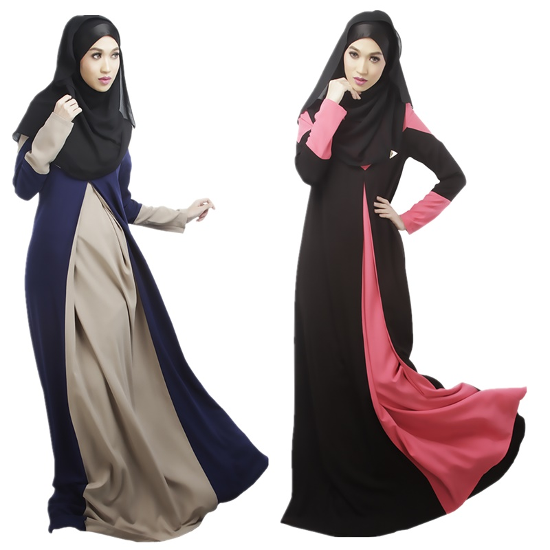 2018 Latest designs cheap long sleeves islamic formal cotton abaya maxi dress