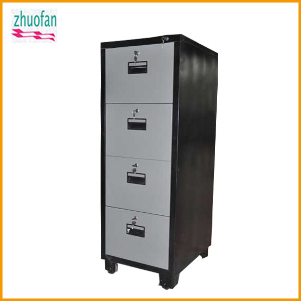four drawers fireproof paint steel filing cabinet