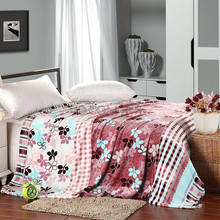 2015 Cheap Anti-Pilling Printed Knitted 100% Polyester Flannel Fleece Blanket/bed sheets