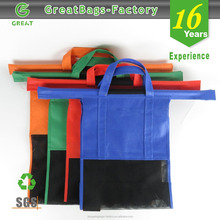 Wholesale supermarket reusable wheeled market grocery Shopping trolley bag