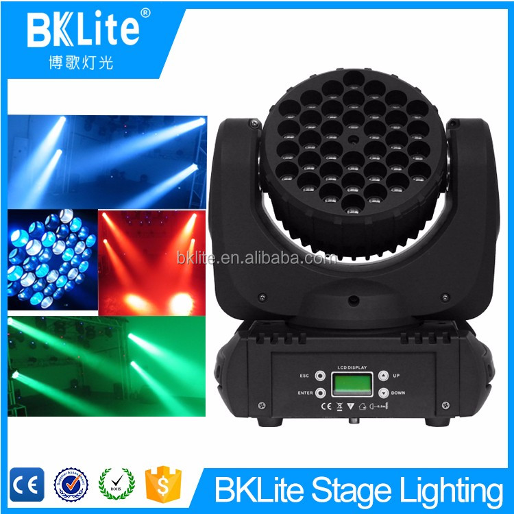 BKLITE 36pcs 3w New designed hot product wholesale price led Moving Head wash Effect Led Center Stage Light