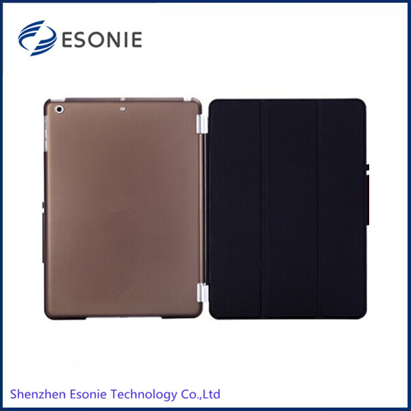factory sell stand leather case for ipad air