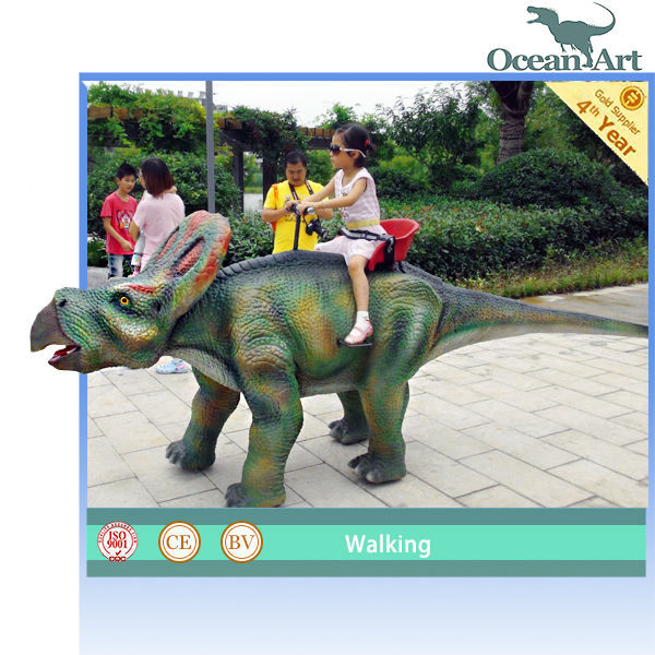 ISO9001 animatronic dinosaur kiddie ride machine