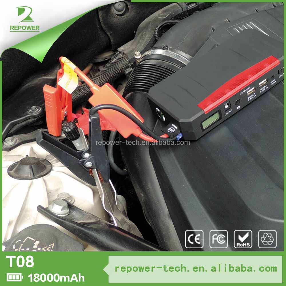 12v gasoline and diesel epower 18000mah jump starter battery mini jump start