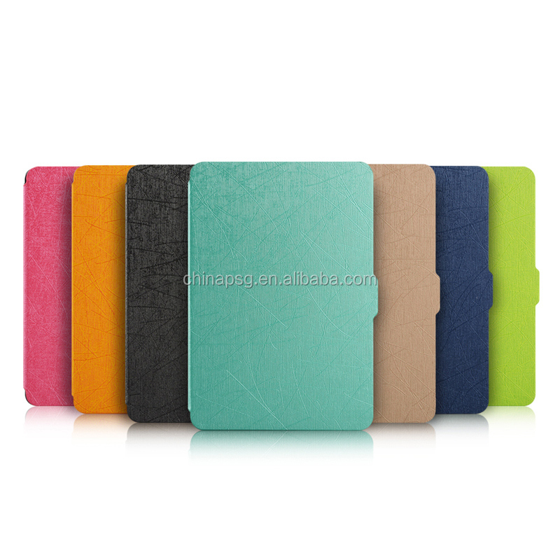 Anti Cracking Yasi Texture Pu Leather Case for Amazon Kindle, Smart Case for Kindle 8th Generation