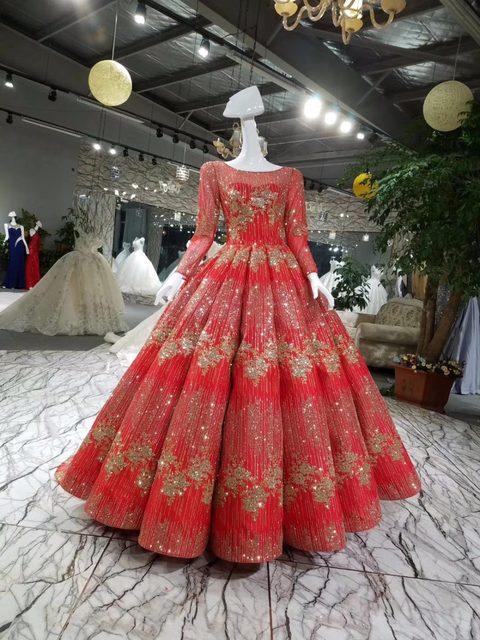 Online Shop AOLANES Luxury Lace Crystals Appliques Arabic Champagne ...