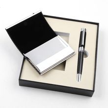 High Quality Luxury Gift set Heavy Pen and Business Card Holder with Gift Box