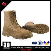 MILITARY ARMY HALF LEATHER COMBAT PATROL BOOT SWAT Classic 9'' COYOTE