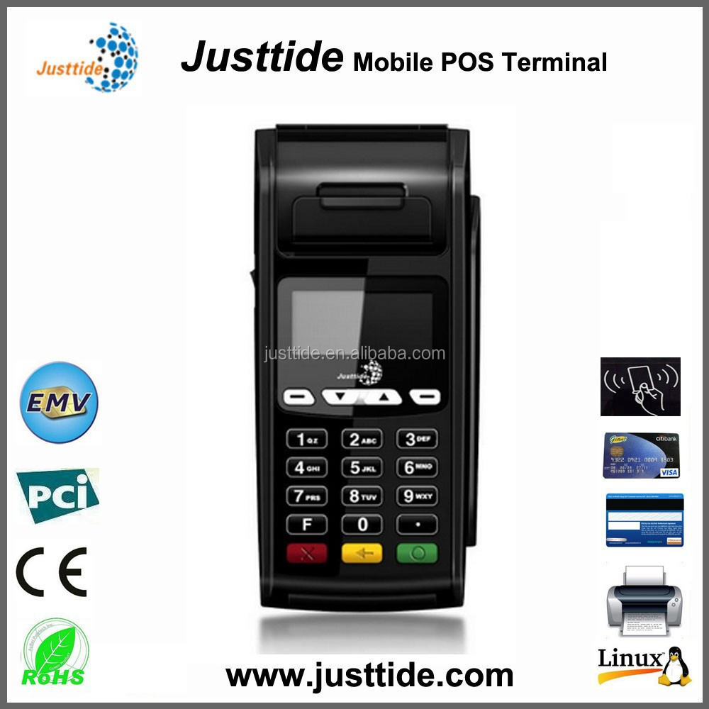 High Quality Linux System POS, Magnetic Card Reader POS, Receipt Printer POS