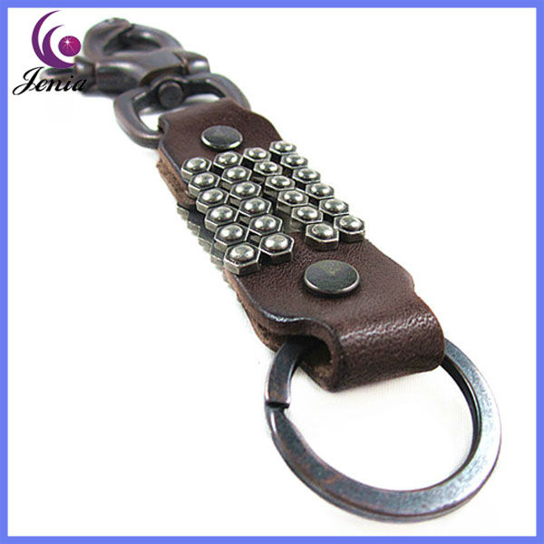 NEW FASHIONABLE KEY CHAIN MADE IN CHINA WITH RIVET DECORATION &K0134-1