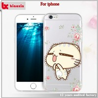 Hot sale 2016 latest design cartoon mobile phone cases for girls for iphone