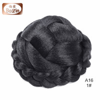 Women's Synthetic Braided Hair Bun Chignon Hairpiece Clip in Hair Extensions