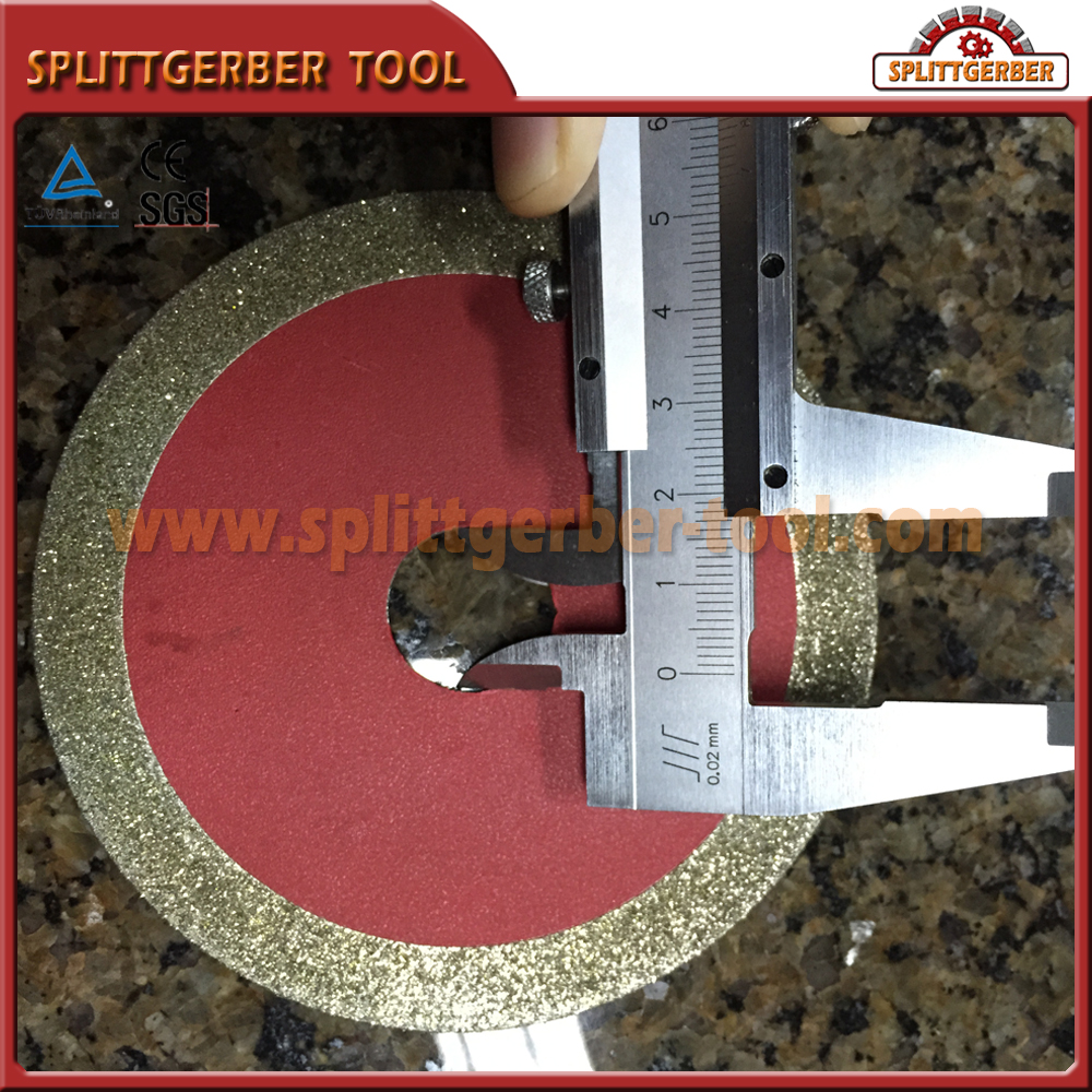 Electroplated 6 Saw Blade Small Diamond Cutting Marble Granite Tile