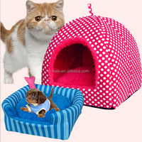 pet product winter and autumn dual-use nest new soft dog bed plush pet house