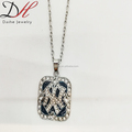 Daihe cheap square letter alloy necklace