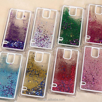 Bling Sparkle Glitter Stars Dynamic Liquid Quicksand Clear Plastic Case For Samsung Galaxy S4 S5 Note 3 4