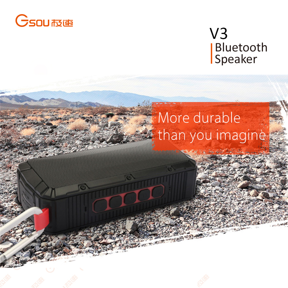 Gsou Portable Mini Subwoofer, Active Bluetooth Speaker, High Power Mini Speaker
