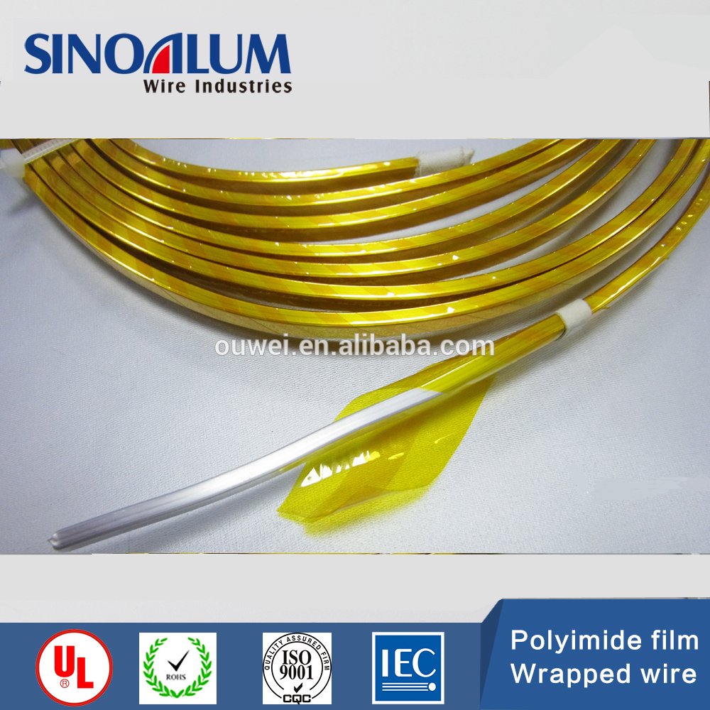 manufacturer polyimide film double kapton wrapped <strong>copper</strong> wire