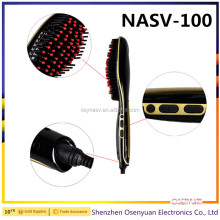 Magic Automatic Fast Hair Straightener Brush Electric Straightening Comb NASV-100 Original Straight LCD Display Comb