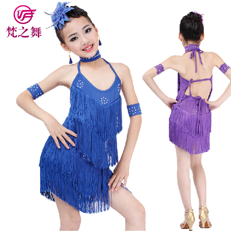 Get Quotations · Four Piece New Arrival Kids Professional Latin Dance Dress  Competion Show Children Girls Latin Dance
