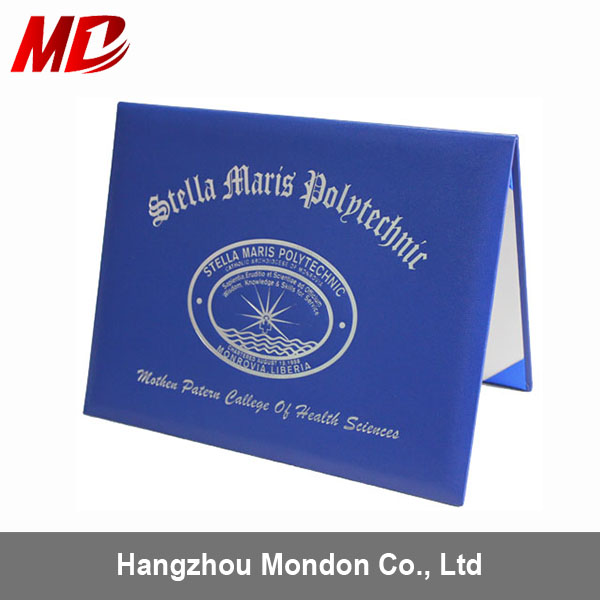 Promotion -Graduation Diploma Cover certificate folders leather made