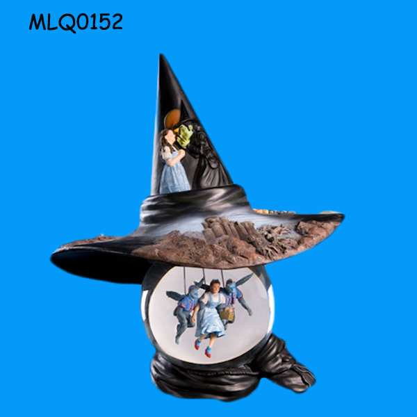 Wholesale wicked witch hat type Personalized Water Globe