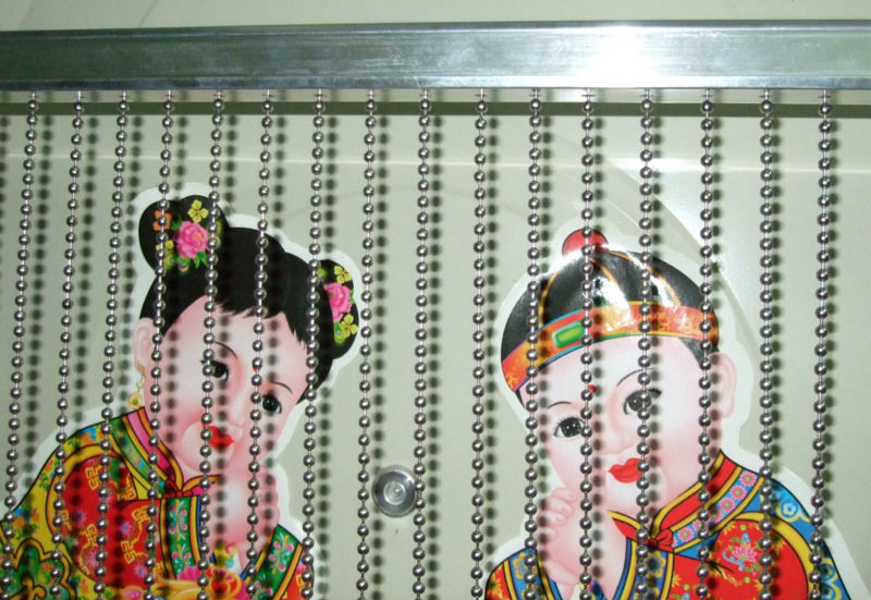 shimmer metal bead chain curtain